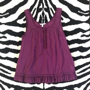 American Eagle Outfitters Cotton Ruffle Tank Top